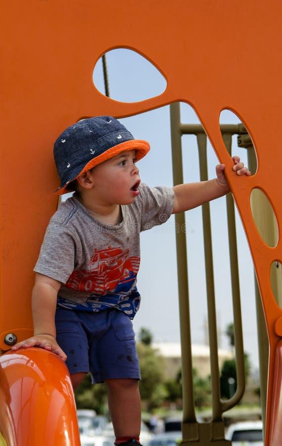 Toddler boy posing royalty free stock image