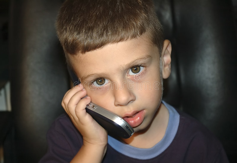 Download Toddler on Cellphone stock image. Image of expression, communication - 17419