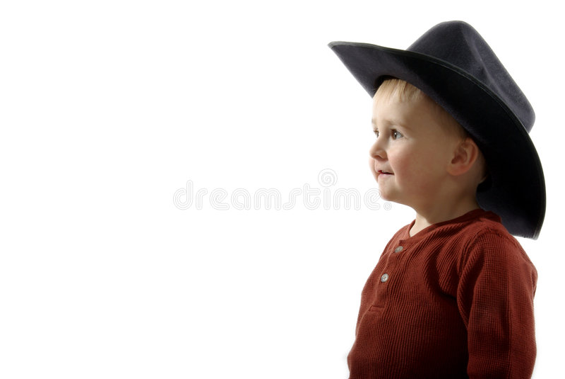 Toddler Cowboy royalty free stock photo