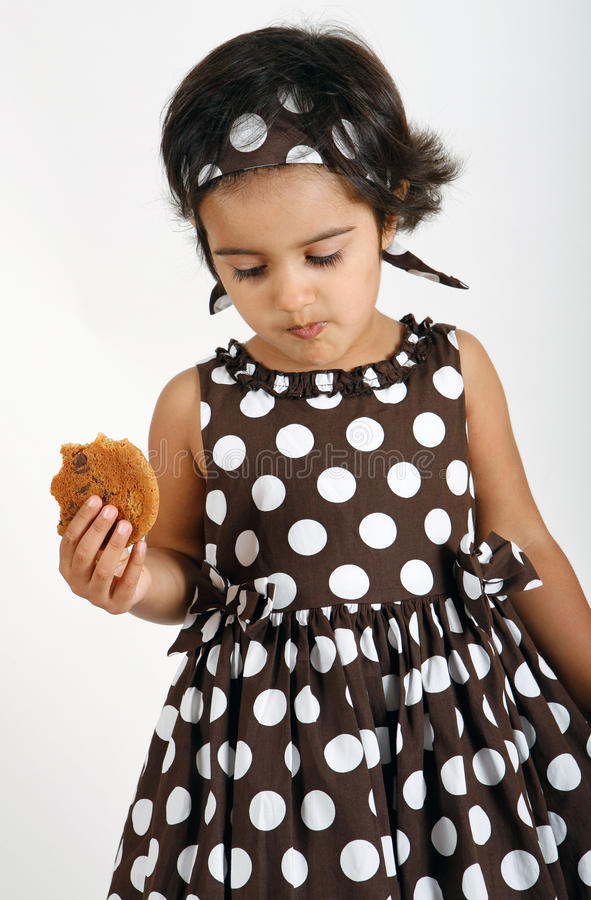 Download Toddler Eating Chocolate Chip Cookie Stock Image - Image: 15198807