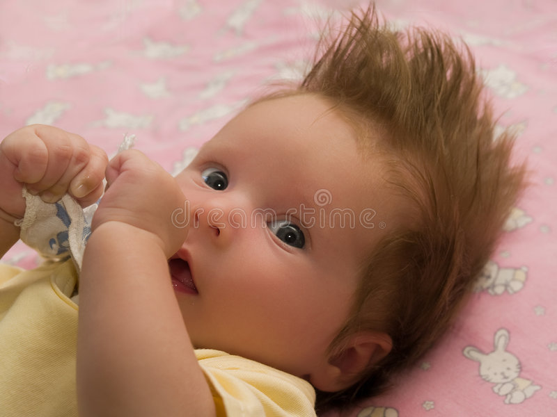 Toddler eyes stock photography