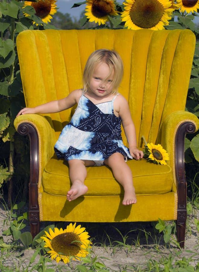 Toddler Girl Portrait Stock Images
