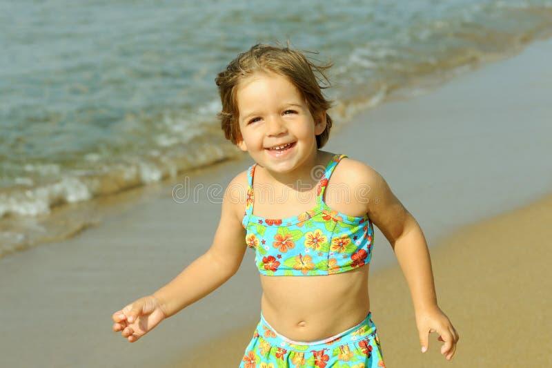 Download Toddler Girl Running At Beach Stock Image - Image: 28933591