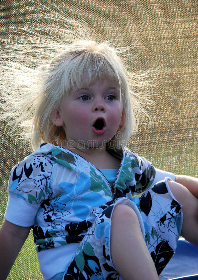Download Toddler girl is surprised stock image. Image of hair, little - 5835271
