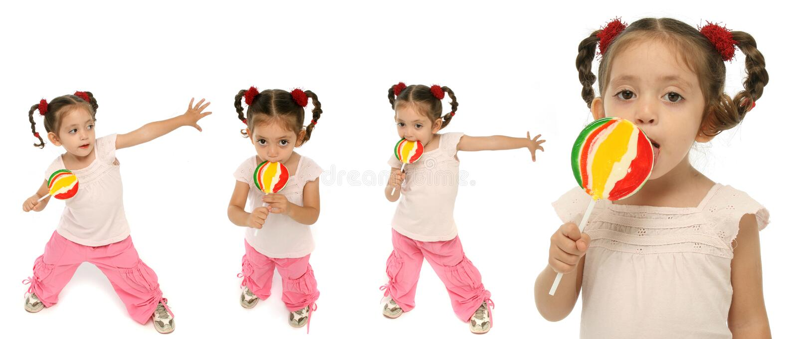 Download Toddler Holding A Lollipop Wit Stock Image - Image: 2750441
