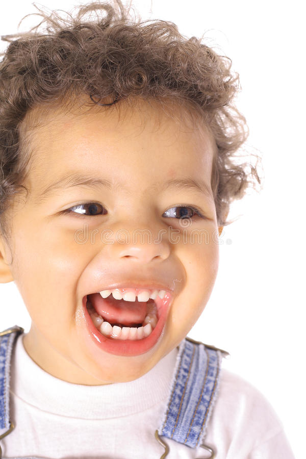 Download Toddler laughing stock image. Image of laugh, black, isolated - 14705913