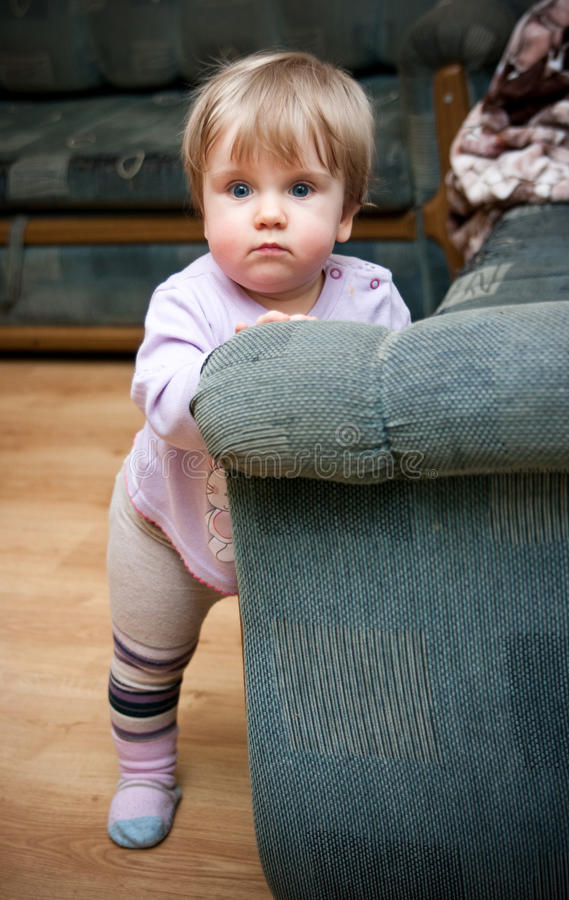 Toddler Learning To Walk Royalty Free Stock Image