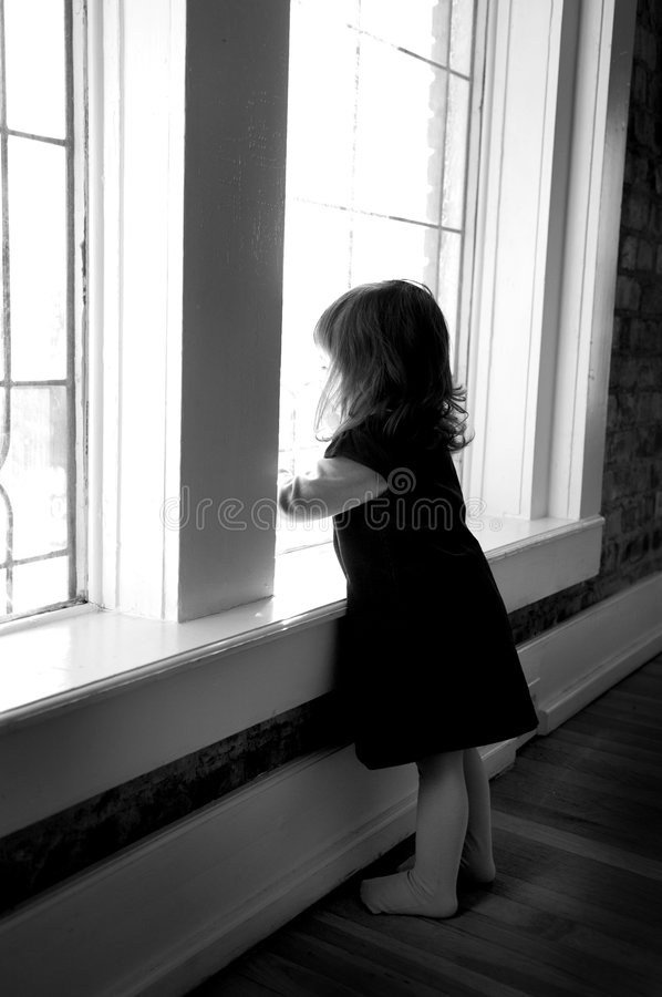Download Toddler Looking Out The Window Royalty Free Stock Photo - Image: 1977535