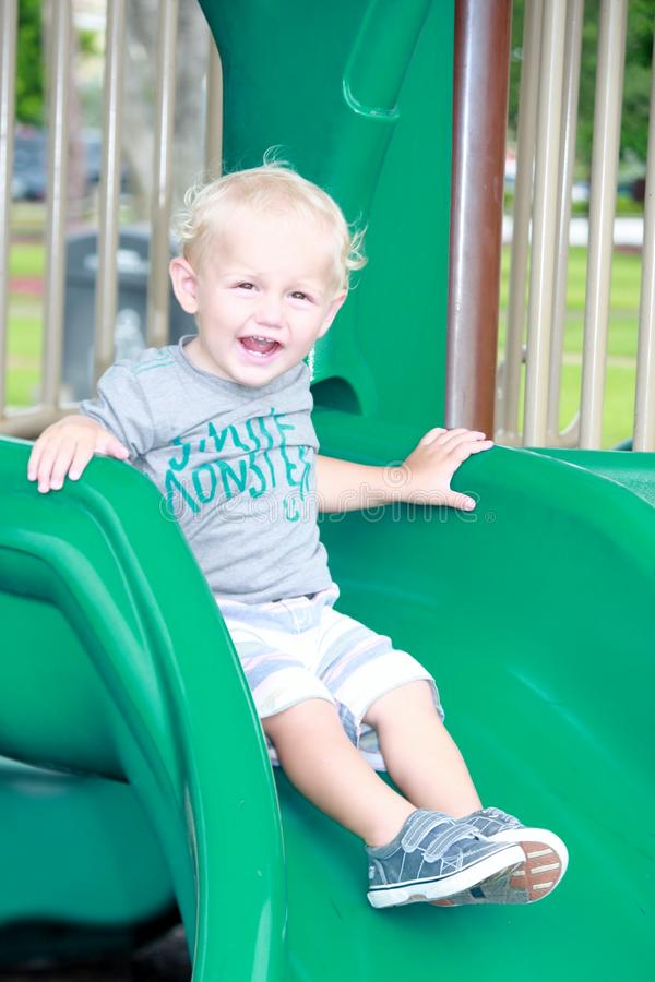 Free Toddler On Slide Stock Photography - 75163192