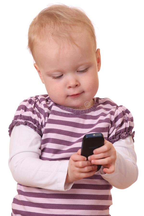 Download Toddler with phone stock photo. Image of happy, isolated - 24469882