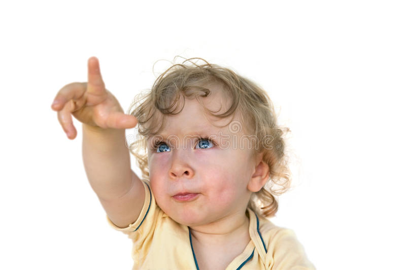 Toddler pointing stock photos
