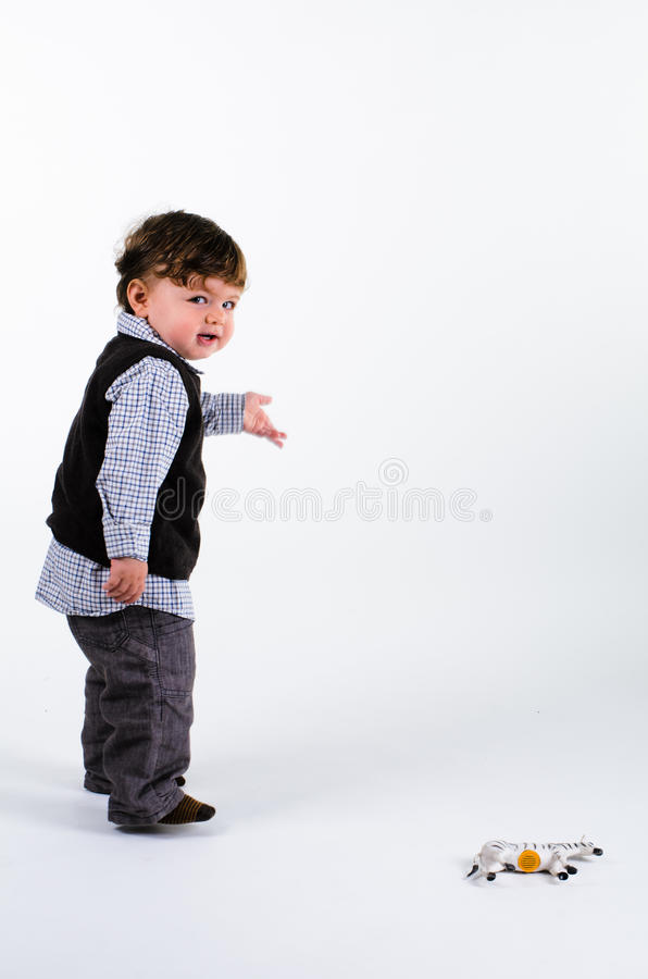 Download Toddler pointing to right stock image. Image of little - 27883707