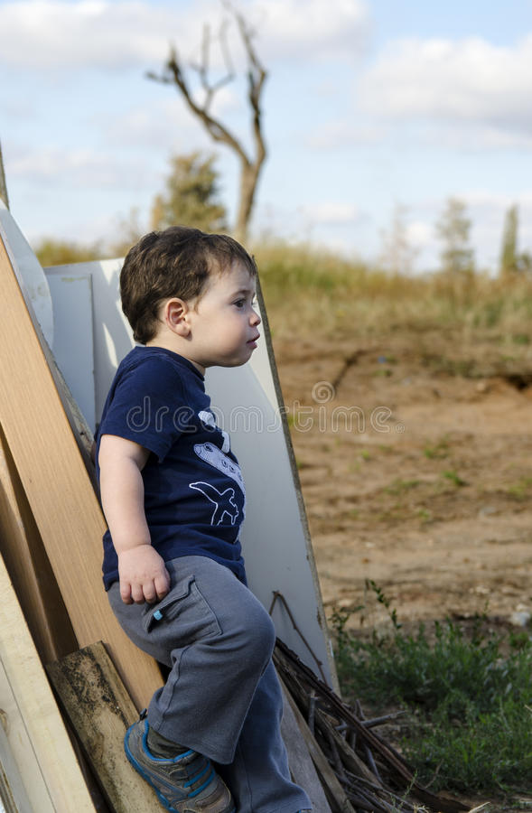 Toddler posing royalty free stock photos