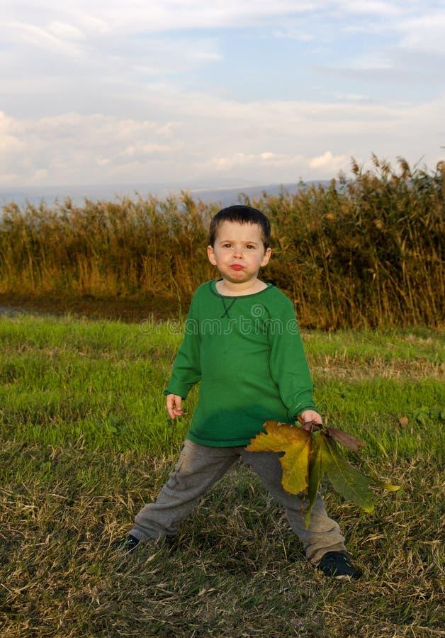 Toddler posing at nature stock photos