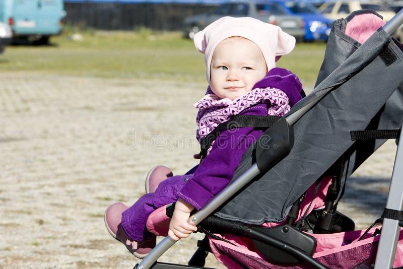 Toddler In Pram Royalty Free Stock Photo