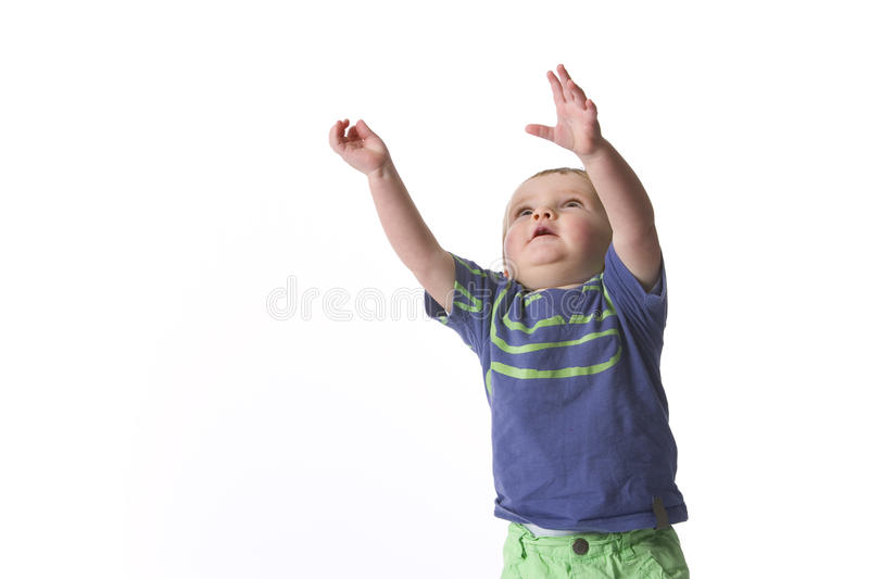 Toddler Reaching Out High royalty free stock photos
