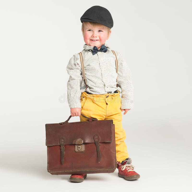 Toddler ready for school royalty free stock photo