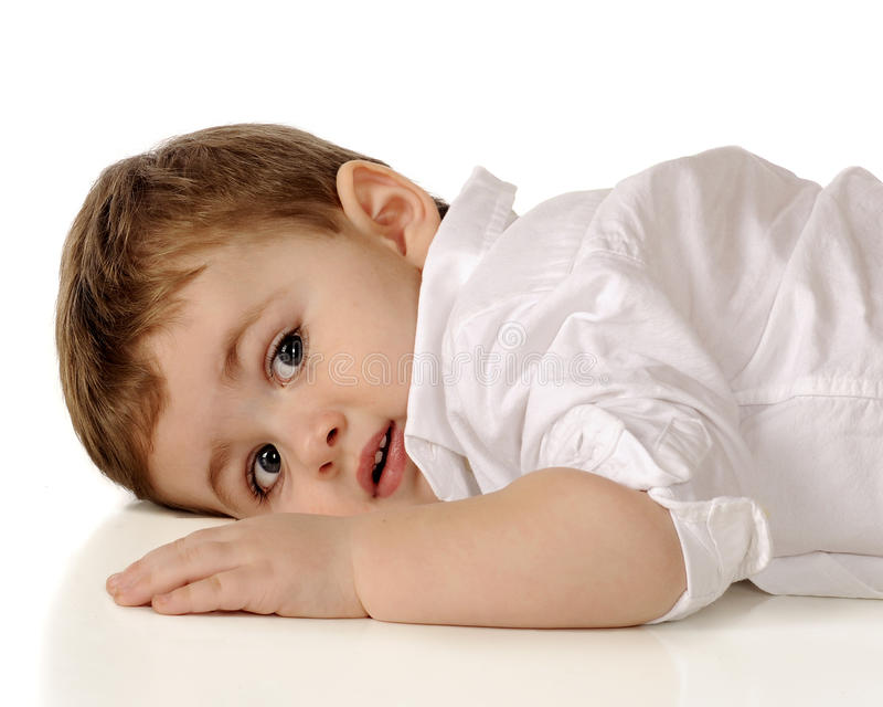 Toddler At Rest Royalty Free Stock Image