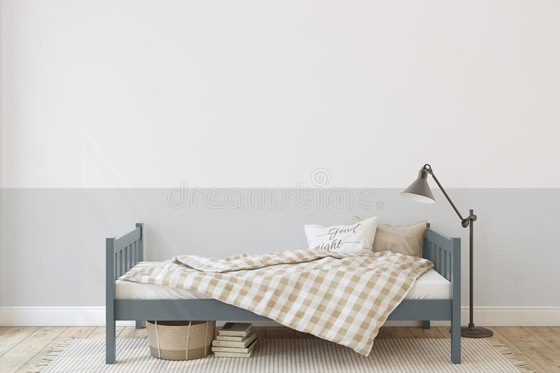 Toddler room. Interior mockup. 3d render vector illustration
