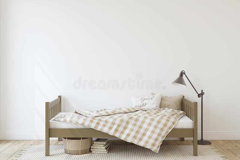 Toddler room. Interior mockup. 3d render stock illustration