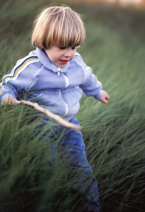 Toddler running royalty free stock photography