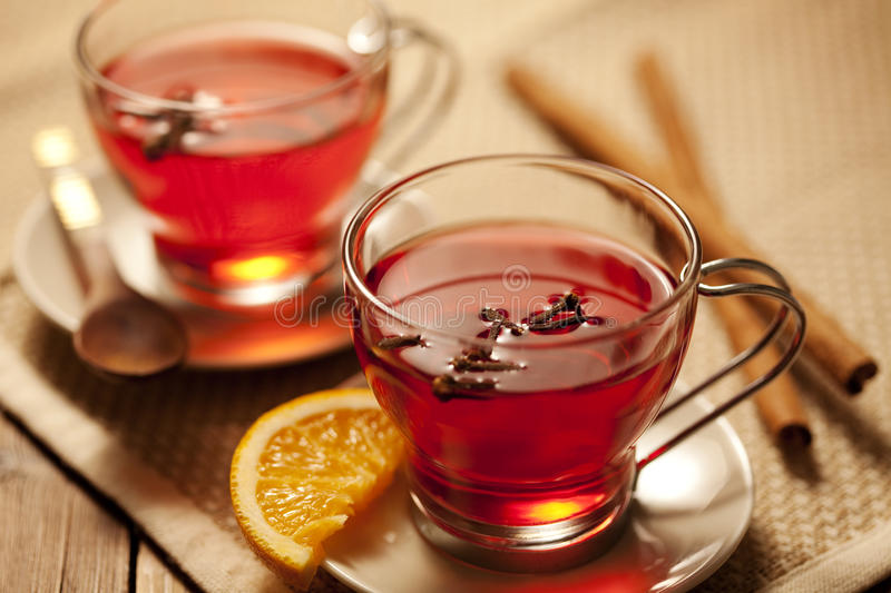 Toddy or mulled wine royalty free stock photos