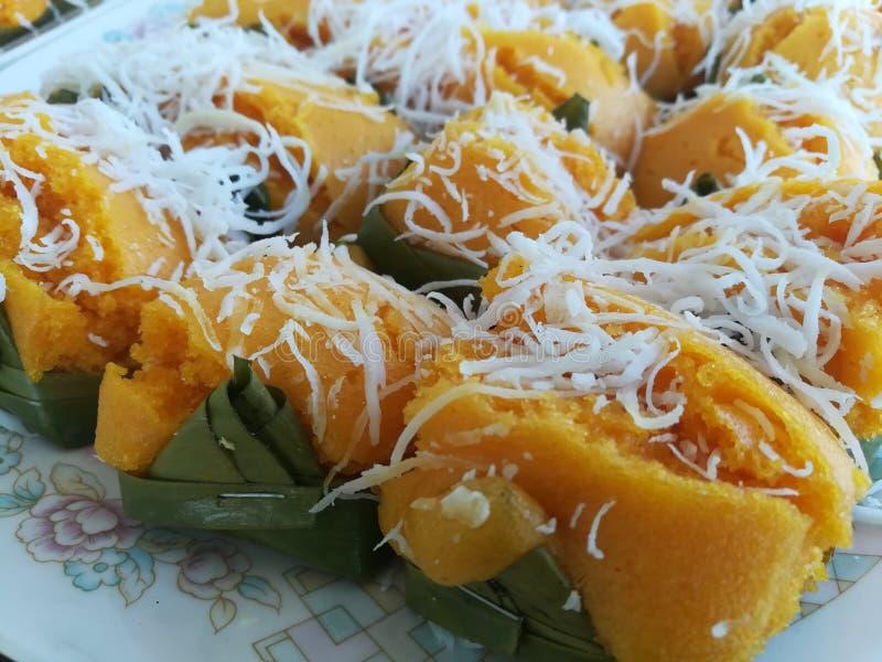 Toddy Palm Cake Kanom Tarn royaltyfri fotografi