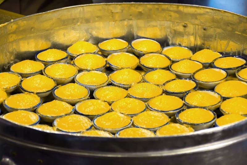 Toddy Palm Cake Kanom Tarn thailändsk efterrätt arkivfoton