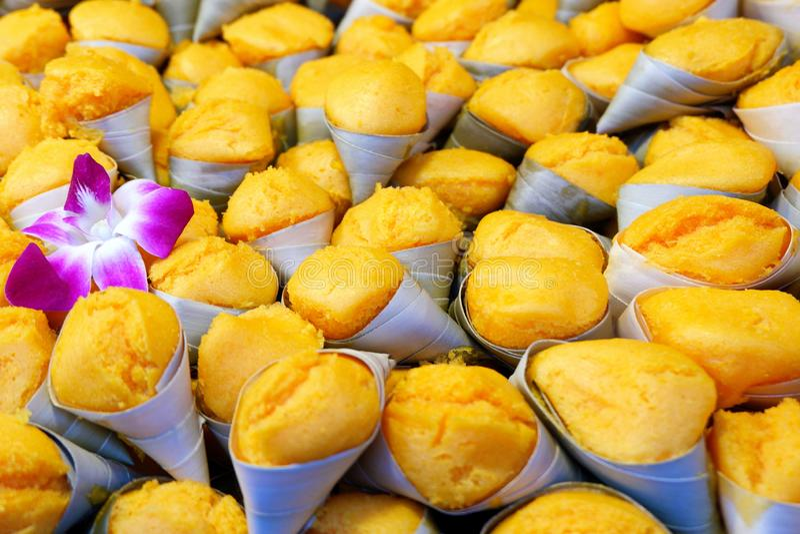 Toddy Palm Cake - Popular Thai Dessert stock images