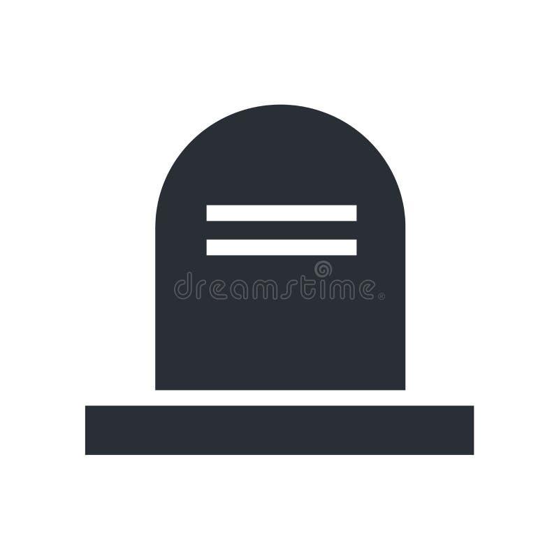 Todesikonenvektorzeichen und -symbol lokalisiert auf weißem Hintergrund stock abbildung