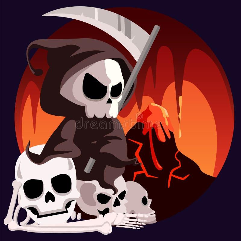 Todessensenmann Sit In Hell vektor abbildung