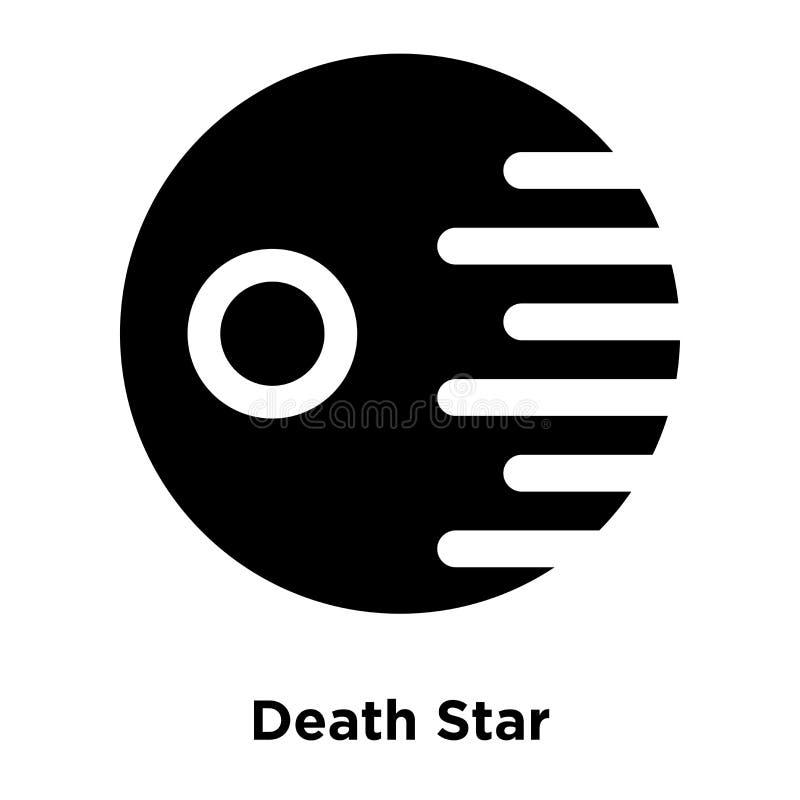 Todesstern-Ikonenvektor lokalisiert auf weißem Hintergrund, Logo concep stock abbildung