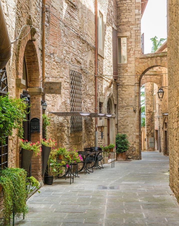 Todi härlig stad i landskapet av Perugia, Umbria, centrala Italien royaltyfri bild
