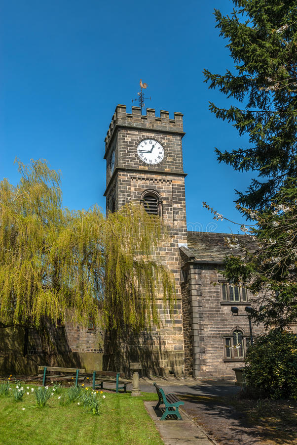 Download Todmorden Church stock image. Image of vane, lawn, building - 40015093