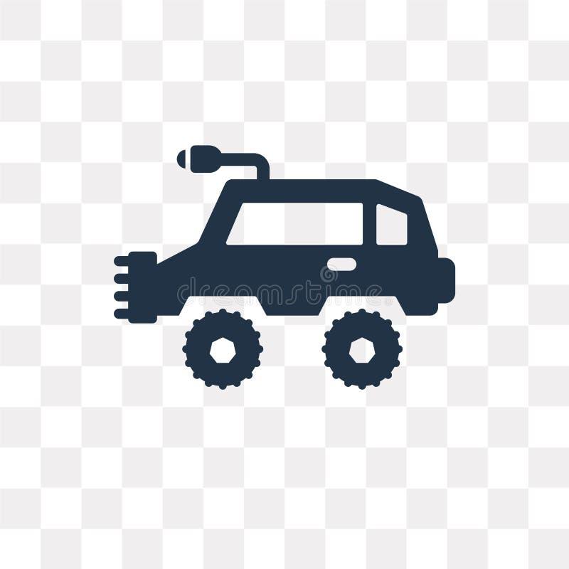 Todo el icono del vector del vehículo del terreno aislado en backgrou transparente ilustración del vector