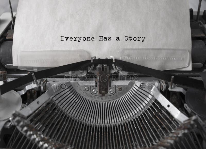 Todo el mundo tiene una historia writer fotos de archivo libres de regalías