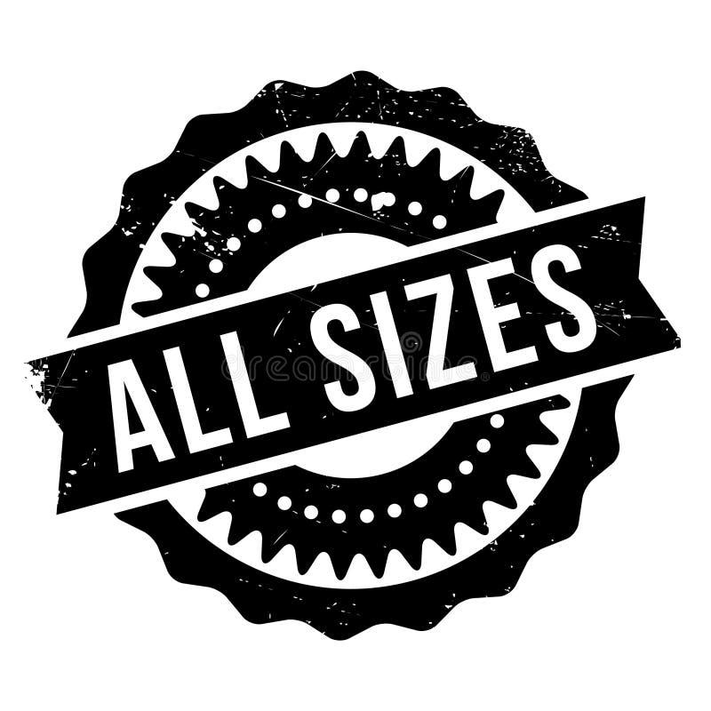 Todo el sello de goma de los tamaños libre illustration