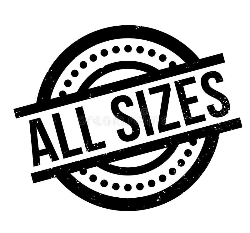 Todo el sello de goma de los tamaños stock de ilustración
