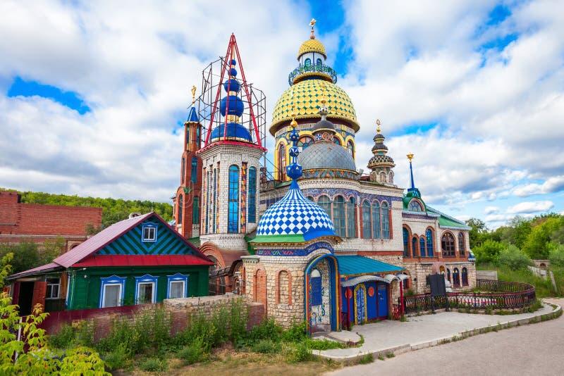 Todo el templo de la religión imagen de archivo