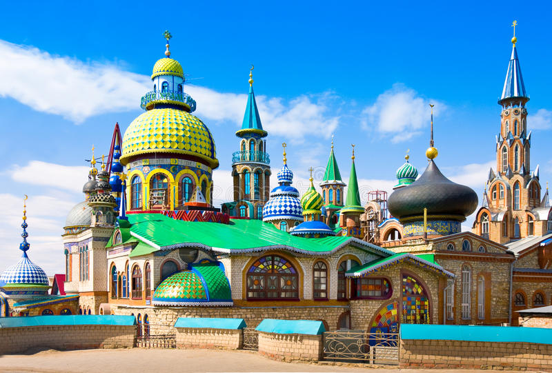 Todo el templo de las religiones en Kazán, Rusia foto de archivo libre de regalías