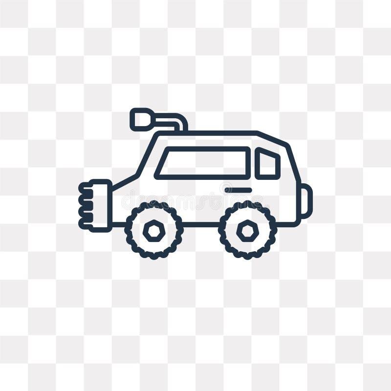 Todo o ícone do vetor do veículo do terreno isolado no backgrou transparente ilustração stock