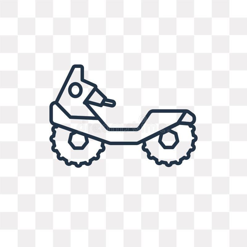 Todo o ícone do vetor do veículo do terreno isolado no backgrou transparente ilustração royalty free