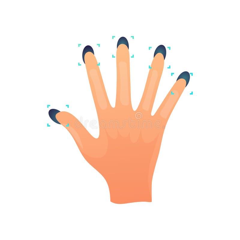 Todo o modo da segurança da varredura da mão da impressão digital para a casa ou o escritório ilustração royalty free