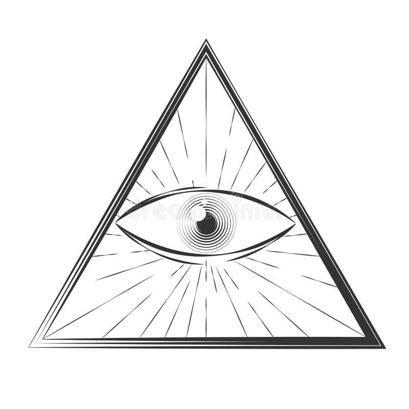Todo o olho de vista ilustração stock