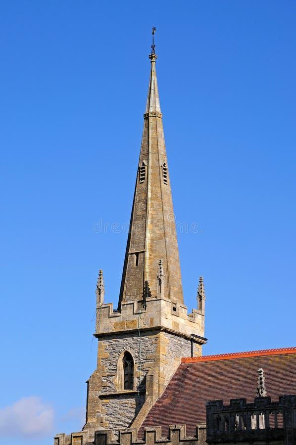 Todo o pináculo da igreja de Saint, Evesham imagens de stock royalty free