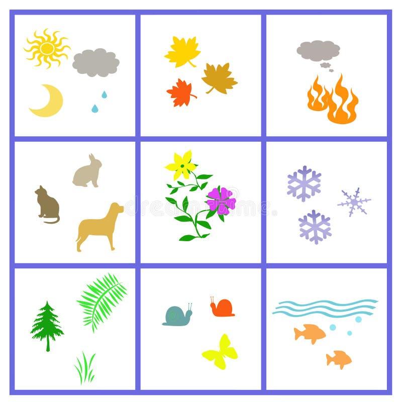 Download Todo o poster da natureza ilustração stock. Ilustração de água - 12801252