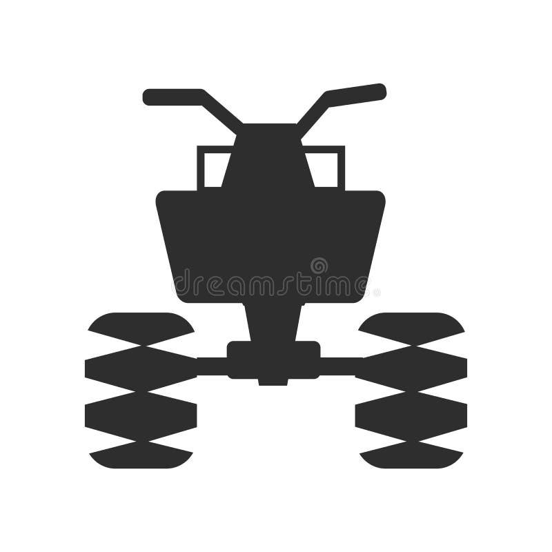 Todo o sinal e símbolo do vetor do ícone do veículo do terreno isolados no fundo branco, todo o conceito do logotipo do veículo d ilustração do vetor