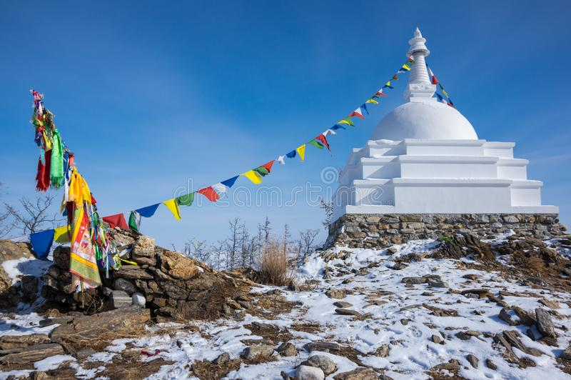 Todo o Stupa auspicioso de Great Awakening foto de stock