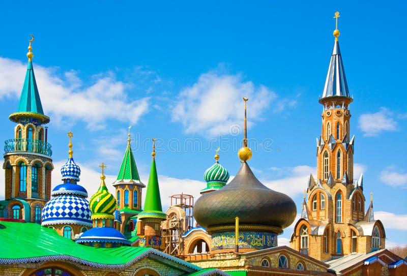 Todo o templo das religiões em Kazan, Rússia fotografia de stock