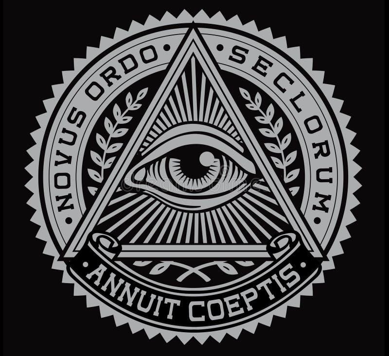 Todo o vetor de vista do olho ilustração royalty free